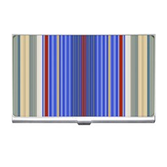Colorful Stripes Background Business Card Holders