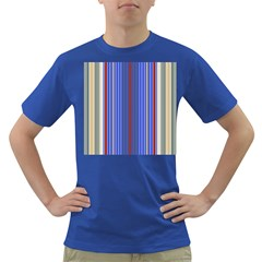 Colorful Stripes Background Dark T-Shirt