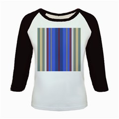 Colorful Stripes Background Kids Baseball Jerseys