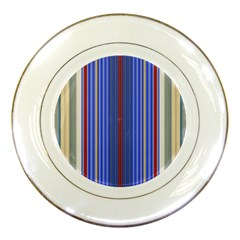 Colorful Stripes Background Porcelain Plates