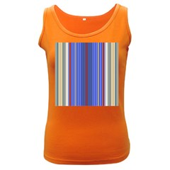 Colorful Stripes Background Women s Dark Tank Top