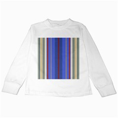 Colorful Stripes Background Kids Long Sleeve T Shirts