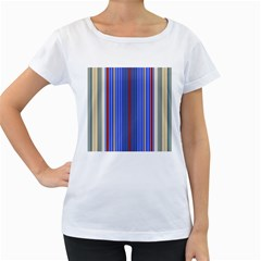 Colorful Stripes Background Women s Loose Fit T Shirt (white)