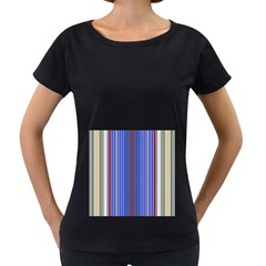 Colorful Stripes Background Women s Loose Fit T Shirt (black)