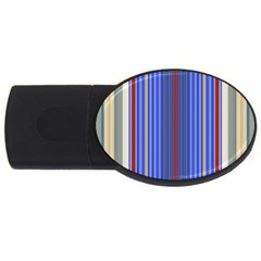 Colorful Stripes Background Usb Flash Drive Oval (4 Gb)