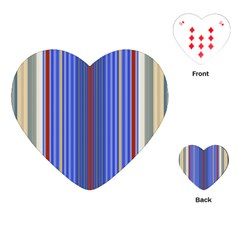 Colorful Stripes Background Playing Cards (heart)