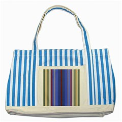 Colorful Stripes Background Striped Blue Tote Bag