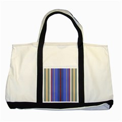 Colorful Stripes Background Two Tone Tote Bag