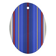 Colorful Stripes Background Oval Ornament (two Sides)