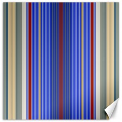 Colorful Stripes Background Canvas 16  x 16