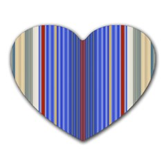 Colorful Stripes Background Heart Mousepads