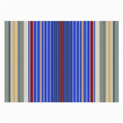Colorful Stripes Background Large Glasses Cloth (2 Side)