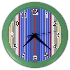 Colorful Stripes Background Color Wall Clocks