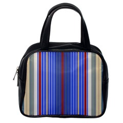 Colorful Stripes Background Classic Handbags (One Side)