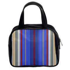 Colorful Stripes Background Classic Handbags (2 Sides)