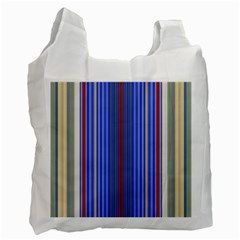 Colorful Stripes Background Recycle Bag (one Side)