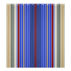 Colorful Stripes Background Shower Curtain 66  x 72  (Large)