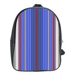 Colorful Stripes Background School Bags(Large)