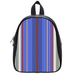 Colorful Stripes Background School Bags (small)