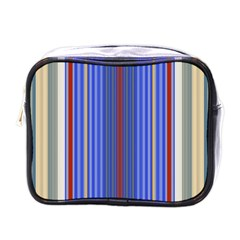 Colorful Stripes Background Mini Toiletries Bags
