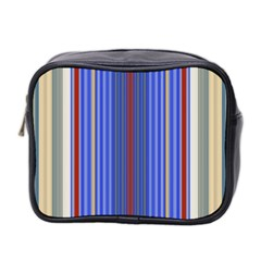 Colorful Stripes Background Mini Toiletries Bag 2 Side