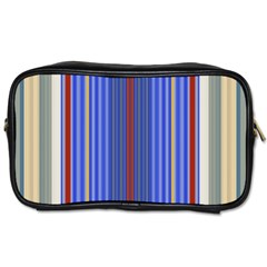 Colorful Stripes Background Toiletries Bags 2 Side