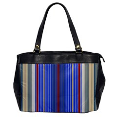 Colorful Stripes Background Office Handbags