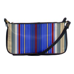 Colorful Stripes Background Shoulder Clutch Bags
