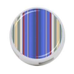 Colorful Stripes Background 4 Port Usb Hub (one Side)