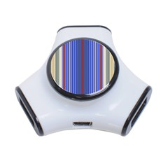 Colorful Stripes Background 3-Port USB Hub