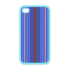Colorful Stripes Background Apple iPhone 4 Case (Color)