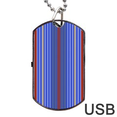 Colorful Stripes Background Dog Tag Usb Flash (two Sides)