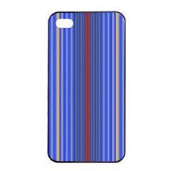 Colorful Stripes Background Apple Iphone 4/4s Seamless Case (black)