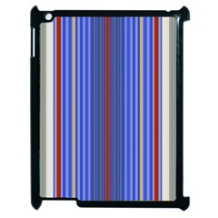 Colorful Stripes Background Apple iPad 2 Case (Black)