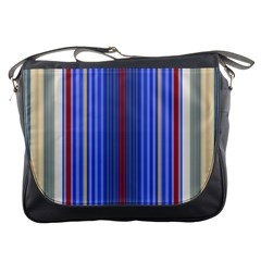 Colorful Stripes Background Messenger Bags