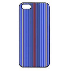 Colorful Stripes Background Apple iPhone 5 Seamless Case (Black)