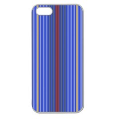 Colorful Stripes Background Apple Seamless Iphone 5 Case (clear)