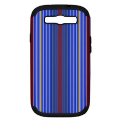 Colorful Stripes Background Samsung Galaxy S III Hardshell Case (PC+Silicone)
