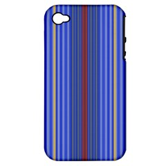 Colorful Stripes Background Apple iPhone 4/4S Hardshell Case (PC+Silicone)