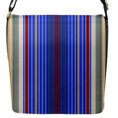 Colorful Stripes Background Flap Messenger Bag (s)