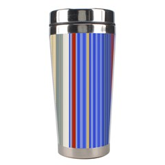 Colorful Stripes Background Stainless Steel Travel Tumblers