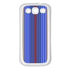 Colorful Stripes Background Samsung Galaxy S3 Back Case (White)
