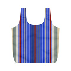 Colorful Stripes Background Full Print Recycle Bags (m)