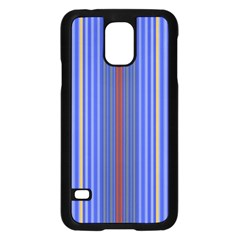 Colorful Stripes Background Samsung Galaxy S5 Case (Black)