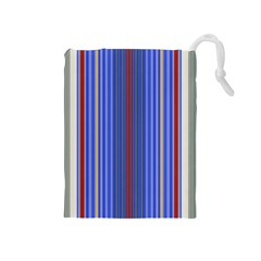 Colorful Stripes Background Drawstring Pouches (medium)