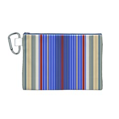 Colorful Stripes Background Canvas Cosmetic Bag (M)