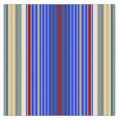 Colorful Stripes Background Large Satin Scarf (square)