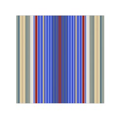Colorful Stripes Background Small Satin Scarf (square)