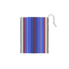 Colorful Stripes Background Drawstring Pouches (XS)