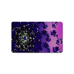 Blue Digital Fractal Magnet (Name Card)